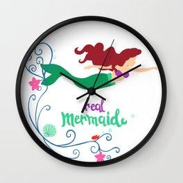 Real mermaid Wall Clock