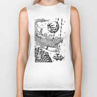 jazzberry Biker Tanks featuring East of Blue Lake by Judith Clay