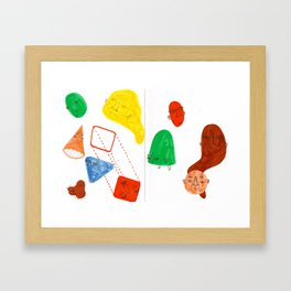 geometric rumba Framed Art Print