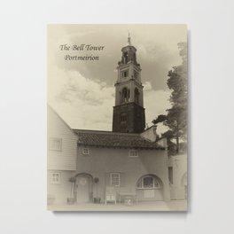 Portmeirion bell tower Metal Print