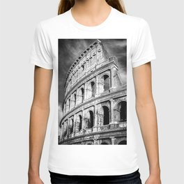 Rome, Italy, Colosseum, Black and White  T-shirt