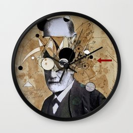 FREUD WITH ABSTRACT CONCEPTS Wall Clock