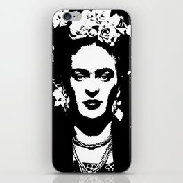 Black 'n white Frida iPhone Skin