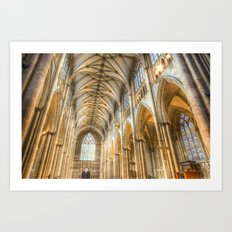 York Minster Cathedral Art Print