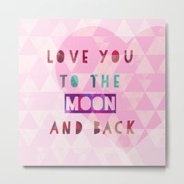 Triangles to the Moon and Back Metal Print