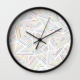 Ab Linear Rainbowz Wall Clock