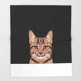 Ripley - Tabby Cat cute cat gifts for cat people and cat lady gift ideas for the cat lover  Throw Blanket