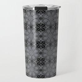 Sharkskin Floral Geometric Travel Mug
