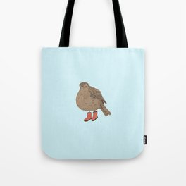 Bird with Boots Tote Bag