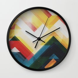 Mountain of energy Wall Clock