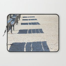 Shadows of empty benches Laptop Sleeve