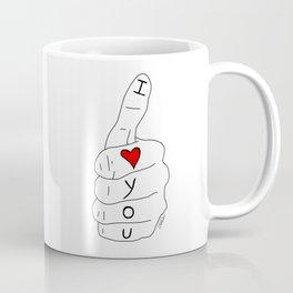 I love you - thumbs up Coffee Mug