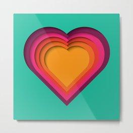 Heart Paper Cutout 010 Metal Print