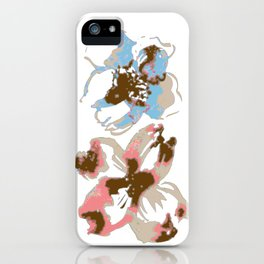 Silk Screen Floral iPhone Case