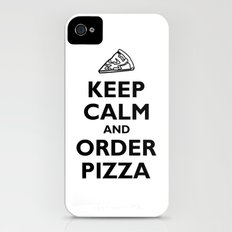 Keep Calm and Order Pizza iPhone (4, 4s) Slim Case