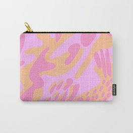 Pink & Orange Shapes Carry-All Pouch