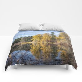 Autumn Makes an Appearance at Fish Lake Comforters