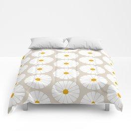 Minimal Botanical Pattern - Daisies Comforters