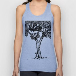 Bike and Tree Unisex Tank Top
