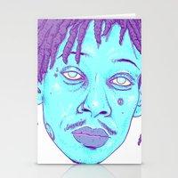 wiz khalifa Stationery Cards featuring WIZ by Mitch Meseke