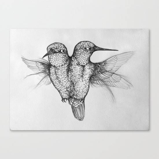 Conjoined Hummingbirds Canvas Print