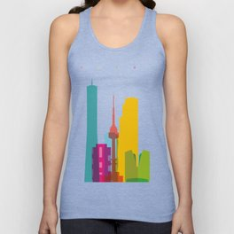 Shapes of Seoul accurate to scale Unisex Tank Top