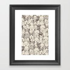 just alpacas natural Framed Art Print