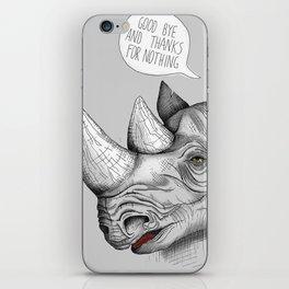 Last Rhino Alive iPhone Skin