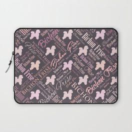 Bichon Frise Word Art Laptop Sleeve