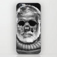 hemingway iPhone & iPod Skins featuring Hemingway Alive! by Oscar Sierra