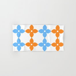 Complementary colors floral pattern - orange and blue Hand & Bath Towel