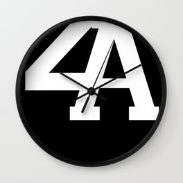 2A in White Wall Clock