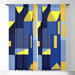 Blue Klee houses Blackout Curtain