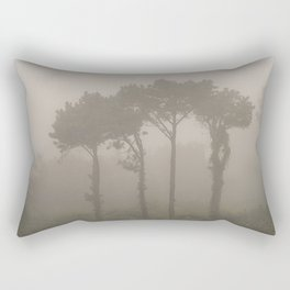 Four Pine Trees in the Fog Rectangular Pillow