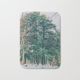 The woods in the winter Bath Mat