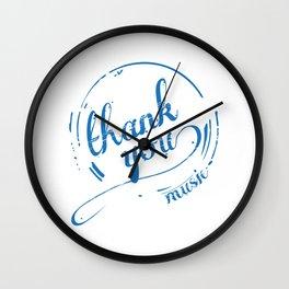 Thank You Music Wall Clock