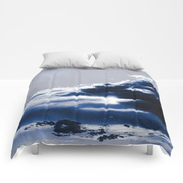 arctic blue landscape Comforters