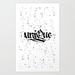 Unique (white) Art Print