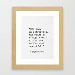 Sigmund Freud qt Framed Art Print