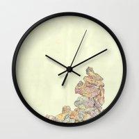 rocks Wall Clocks featuring rocks. by Struan Teague
