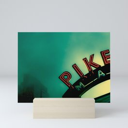 Pike Place Market at Dawn Mini Art Print
