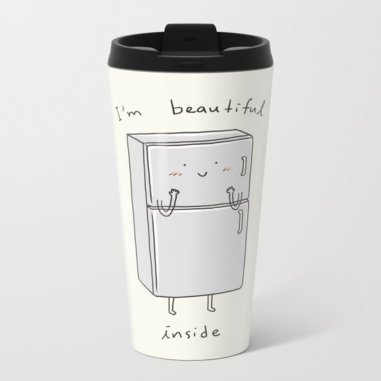 I'm Beautiful Inside Metal Travel Mug