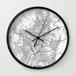 Kyoto Map Gray Wall Clock