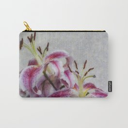 Pink Lillies Carry-All Pouch