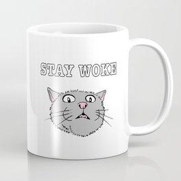 Stay Woke Cat Funny Kitty Coffee Mug