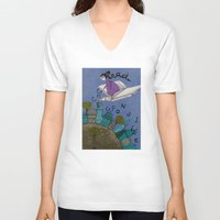 read V-neck T-shirts featuring Read by Judith Clay