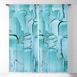 Shiny Turquoise Acryl Thick Metal Stripes Blackout Curtain