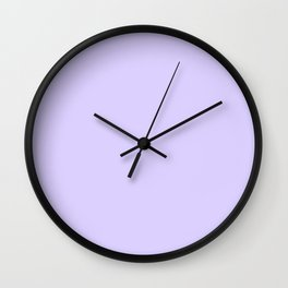 Pale Lavender Violet Wall Clock