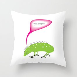 what are you? Throw Pillow