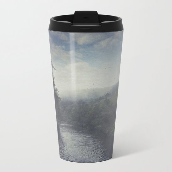 Wilderness in Mist Metal Travel Mug